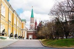 Moscow Kremlin, Nikolskaya tower, Russia Stock Image