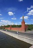The Moscow Kremlin over river Stock Photography