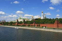The Moscow Kremlin over river Stock Photos