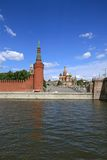 Moscow Kremlin over river Royalty Free Stock Image