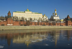 Moscow, Kremlin palace and cathedrals Stock Photos