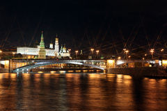 Moscow Kremlin Palace with Churches, Moskva river and Big Stone Stock Photo