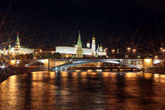 Moscow Kremlin Palace with Churches, Moskva river and Big Stone Royalty Free Stock Photos