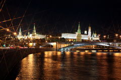 Moscow Kremlin Palace with Churches, Moskva river and Big Stone Stock Photography