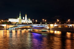 Moscow Kremlin Palace with Churches, Moskva river and Big Stone Royalty Free Stock Photo