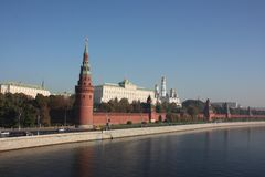 Moscow. Kremlin. Panorama. Royalty Free Stock Images