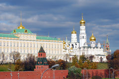 Moscow Kremlin panorama in autumn. Royalty Free Stock Image