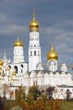 Moscow Kremlin panorama in autumn. Stock Photos