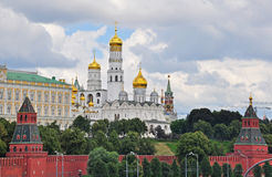 Moscow Kremlin panorama Stock Images