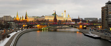 Moscow, Kremlin - panorama night view Stock Images
