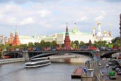 The Moscow Kremlin panorama. Stock Photos