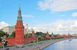 Moscow Kremlin panorama in summer. Stock Photography