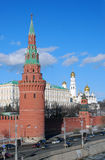 Moscow Kremlin panorama in a sunny day. Royalty Free Stock Photography
