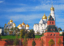 Moscow Kremlin panorama in a sunny day. Stock Photos