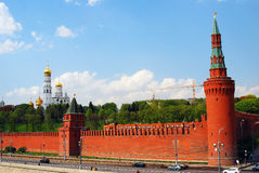 Moscow Kremlin panorama in a sunny May day. Stock Image
