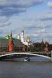 Moscow Kremlin panorama in a sunny summer day. Stock Photos