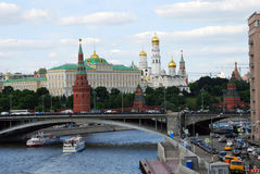 Moscow Kremlin panorama in a sunny summer day. Stock Image