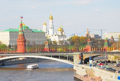 Moscow Kremlin panorama Stock Photography