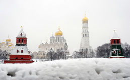 Moscow Kremlin panorama in winter Stock Photography