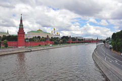 Moscow Kremlin panoramic view Stock Photo