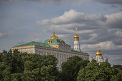 Moscow Kremlin. Part of Moscow Kremlin with one of the historical buildings Stock Images