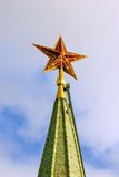 Moscow Kremlin. Red ruby star. Stock Photo