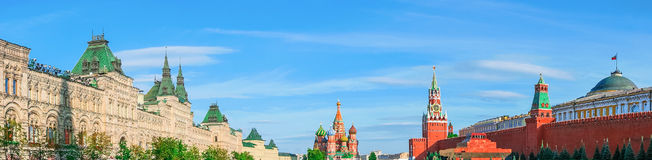 Moscow Kremlin and Red Square, panorama Stock Photos