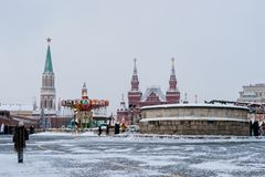 Moscow Kremlin, Red Square, winter holidays season Royalty Free Stock Photography