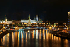 Moscow Kremlin and river Stock Images