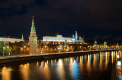 Moscow Kremlin and river Royalty Free Stock Photos