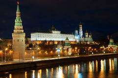 Moscow Kremlin and river Stock Photo
