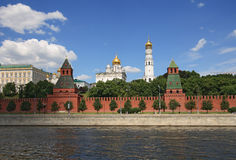 Moscow Kremlin on the river Royalty Free Stock Photos