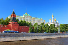 Moscow Kremlin and river Moskva, Moscow, Russia Stock Images