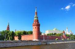Moscow Kremlin and  river Moskva Stock Photo