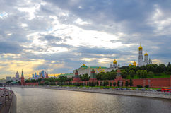 Embankment of Moscow Kremlin Royalty Free Stock Images