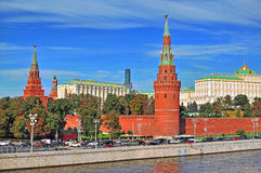 Moscow Kremlin and the riverside Royalty Free Stock Photography