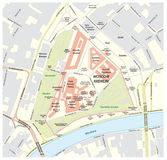 Moscow Kremlin road map, russia Royalty Free Stock Image