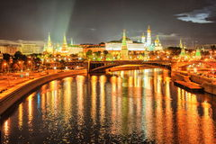 Moscow Kremlin, Russia. Night view of Moscow Kremlin, Russia royalty free stock image