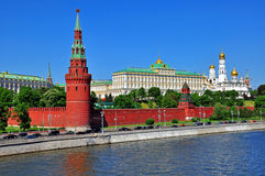 Moscow Kremlin, Russia. Panoramic view of Moscow Kremlin, Russia Stock Photo