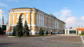 Moscow, the Kremlin Senate. The Kremlin Senate is a building within the grounds of the Moscow Kremlin in Russia. Initially constructed from 1776 to 1787, it Stock Photo