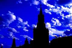 Moscow Kremlin silhouette Royalty Free Stock Photo