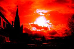 Moscow Kremlin silhouette Stock Photo