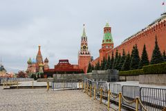 Russia. Moscow. Red Square. The Moscow Kremlin is situated in the historical center of the capital of Russia. The Moscow Kremlin is a big architectural complex Stock Photography