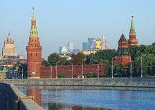 Moscow Kremlin and skyline view Royalty Free Stock Image
