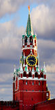 Moscow Kremlin. Spasskaya Tower_3. Moscow Kremlin. The Spasskaya Tower is the main tower with a through-passage on the eastern wall of the Moscow Kremlin, which Royalty Free Stock Image