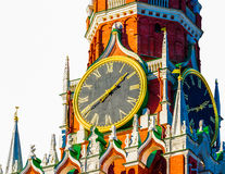Moscow Kremlin Spasskaya tower chimes Royalty Free Stock Photo