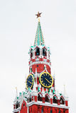 Moscow Kremlin. Spasskaya Tower, clock. Royalty Free Stock Image