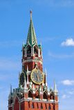 Moscow Kremlin. Spasskaya Tower, clock. Stock Images