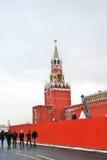 Moscow Kremlin. Spasskaya Tower, clock. Stock Photo