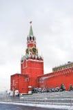 Moscow Kremlin. Spasskaya Tower, clock. Royalty Free Stock Photography